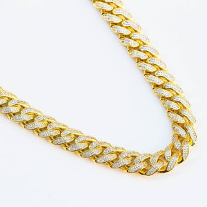 Premium Iced 12mm Cuban Chain - (Gold/White Gold/Rose Gold)
