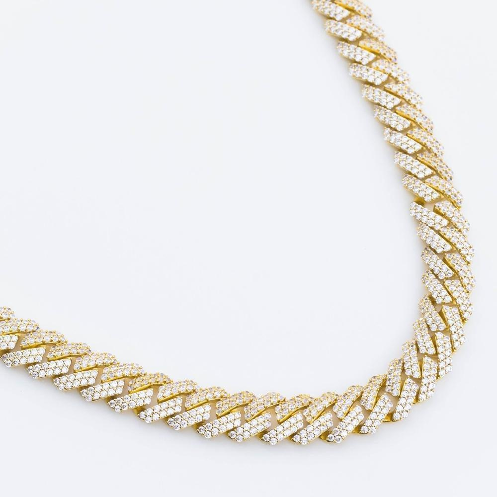 Premium Iced 12mm Straight Edge Cuban Chain - (3 Color Options)
