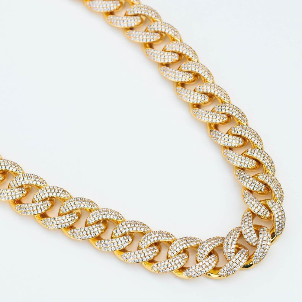 Premium Iced 18mm Cuban Chain - (Gold/White Gold/Rose Gold)