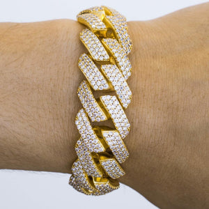 Premium Iced 18mm Straight Edge Cuban Bracelet - (3 Color Options)