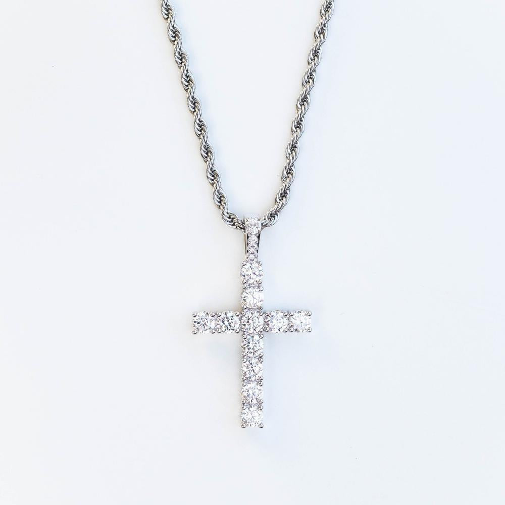 Premium Iced Cross - (Gold/White Gold/Rose Gold)