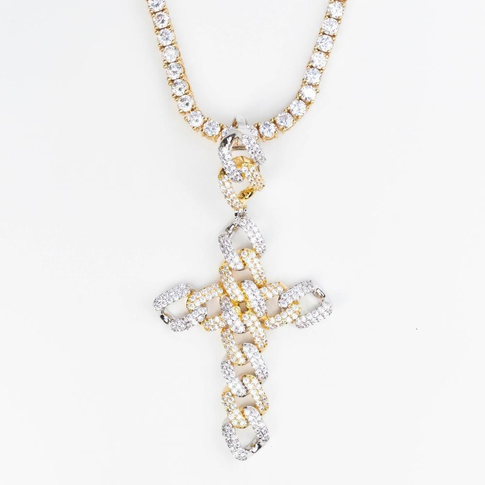 Premium Iced Cuban Cross - (Gold/White Gold/Two-Tone) *SALE*