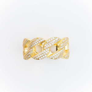Premium Iced Cuban Ring - (Gold/White Gold)