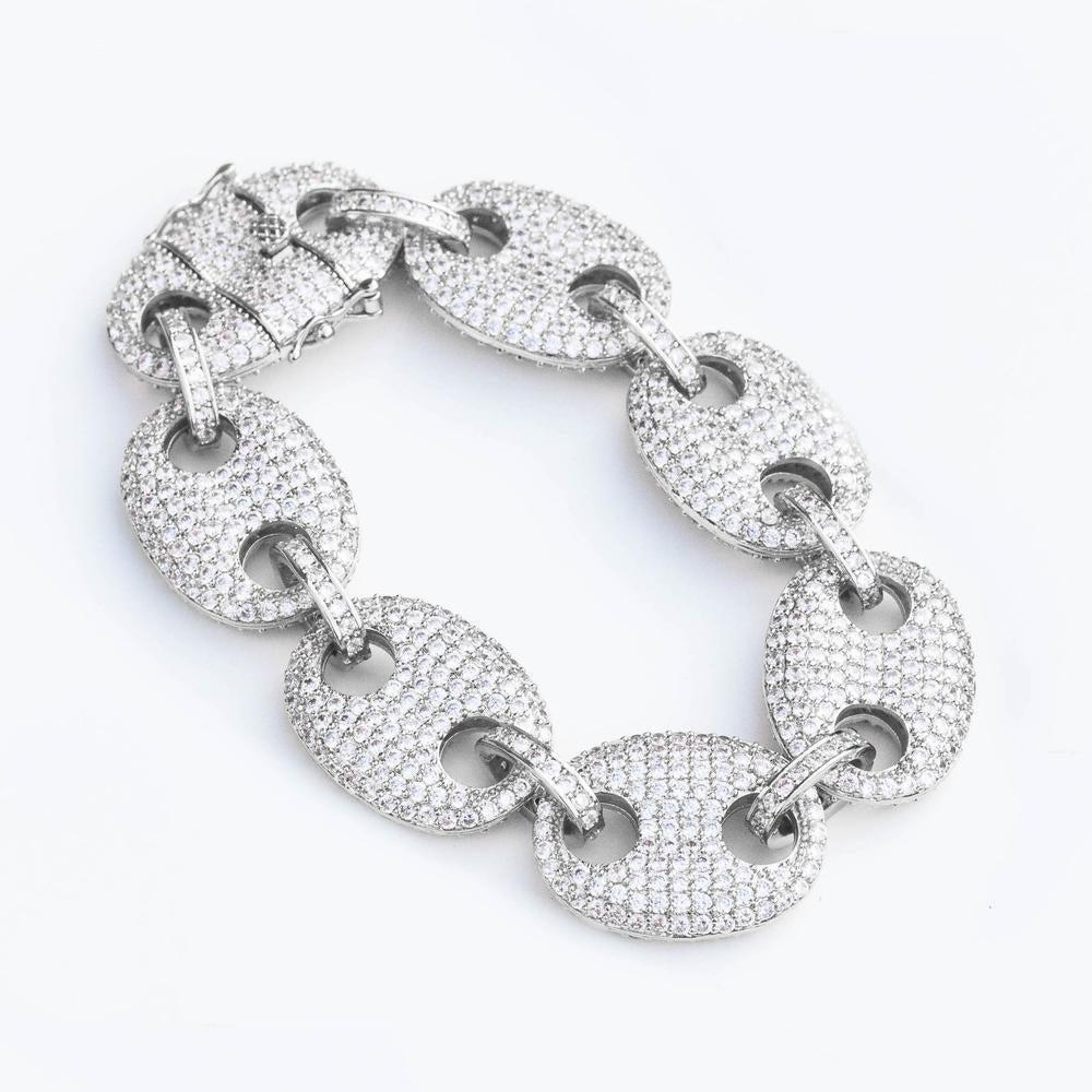 Premium Iced Mariner Link Bracelet - (2 Color Options)