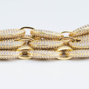 Premium Iced Mariner Link Chain - (Gold/White Gold)