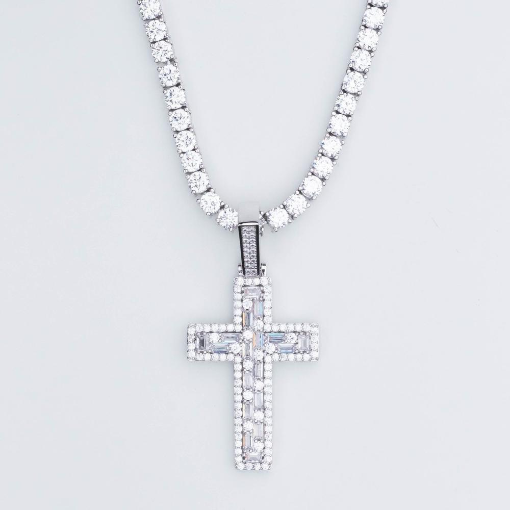 Premium Iced Mosaic Cross - (3 Color Options)