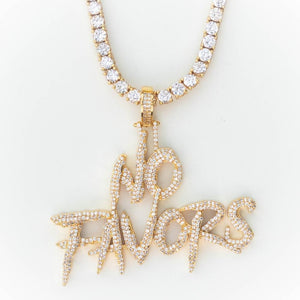 Premium Iced No Favors - (Gold/White Gold/Rose Gold)