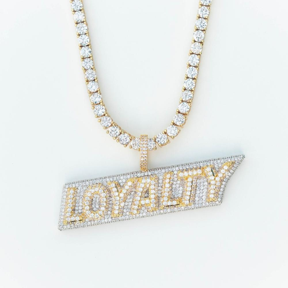 Premium Iced Two-Tone Stacked Loyalty - (Gold/Rose Gold)
