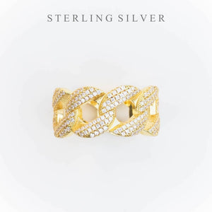 Premium Sterling Silver Iced Cuban Ring - (2 Color Options)