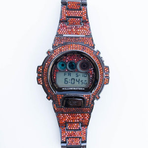 Red Fully Iced G-Shock