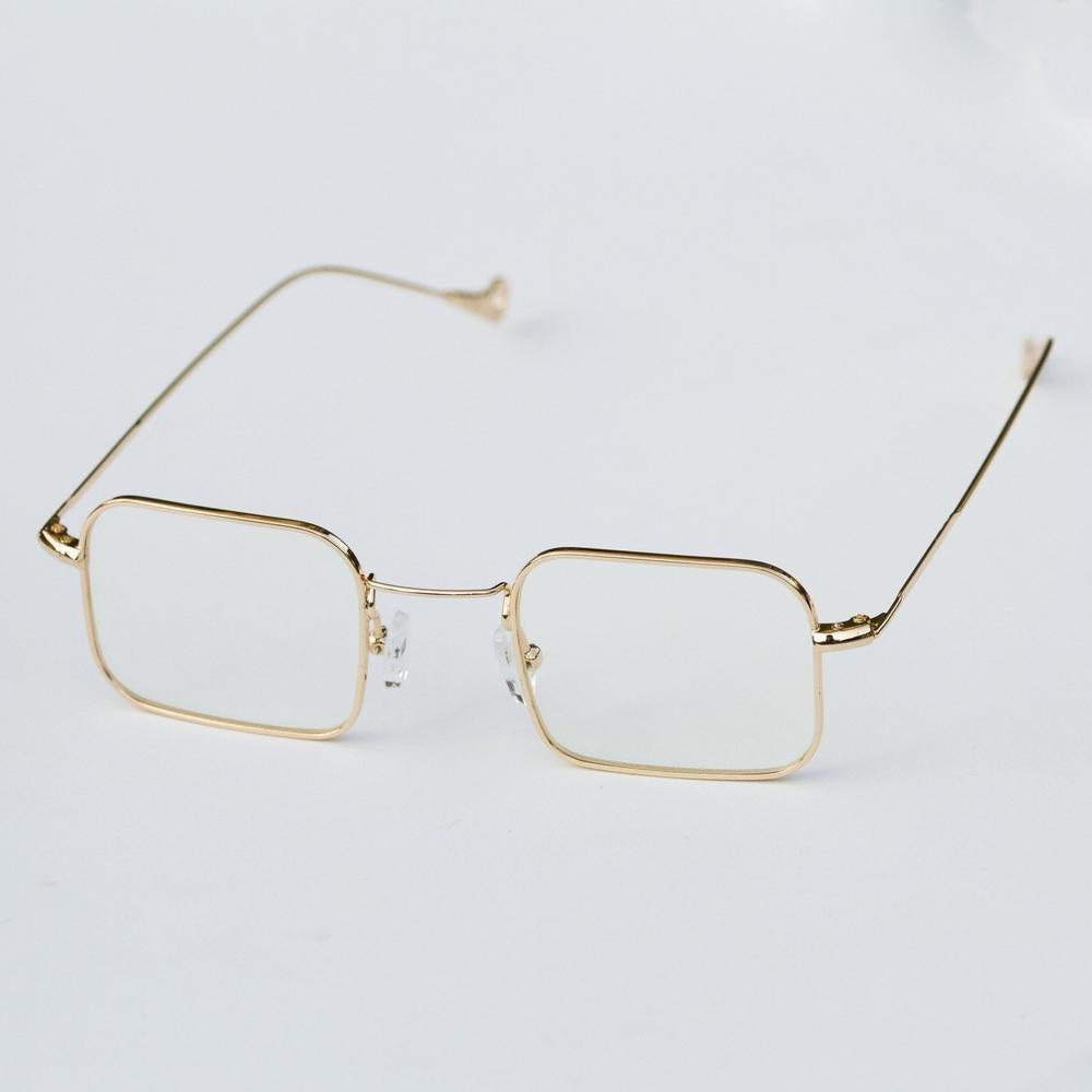 Square Gold Frames - Clear