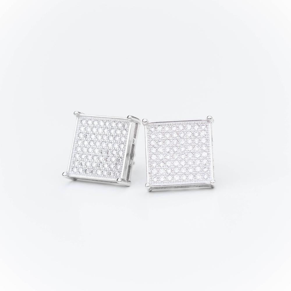 Square Iced Earring - (2 Color Options)