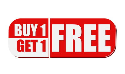 buy one get one free sign
