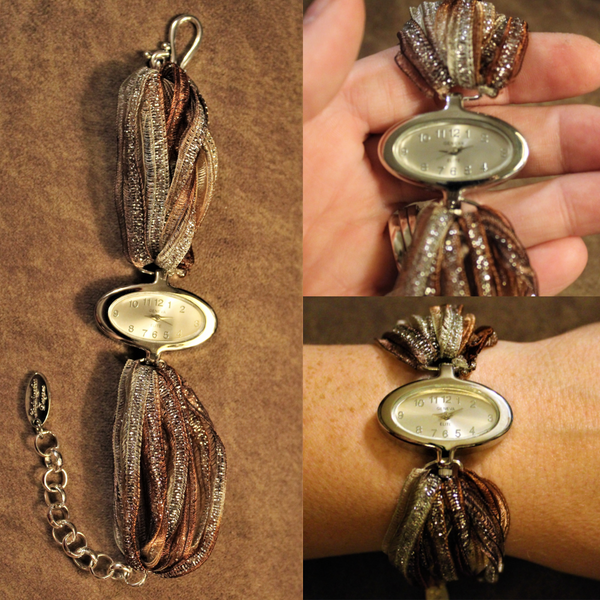 Ladybugfeet Jewelry Designs:Sari Silk Bracelet Watch