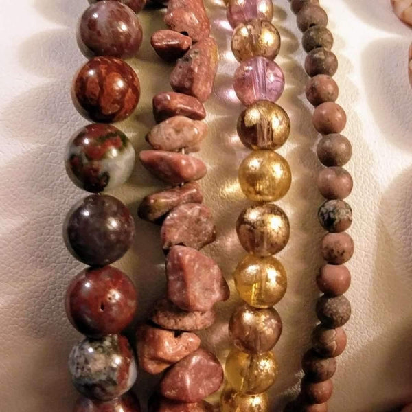Ladybugfeet Jewelry Designs:Romantic Autumn Beaded Boho Cuff Bracelet