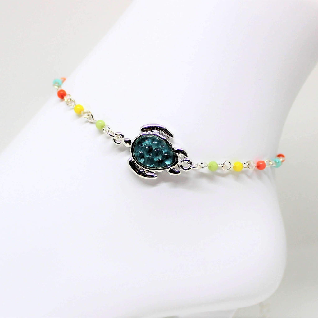 Ladybugfeet Jewelry Designs:Sea Turtle Beaded Anklet