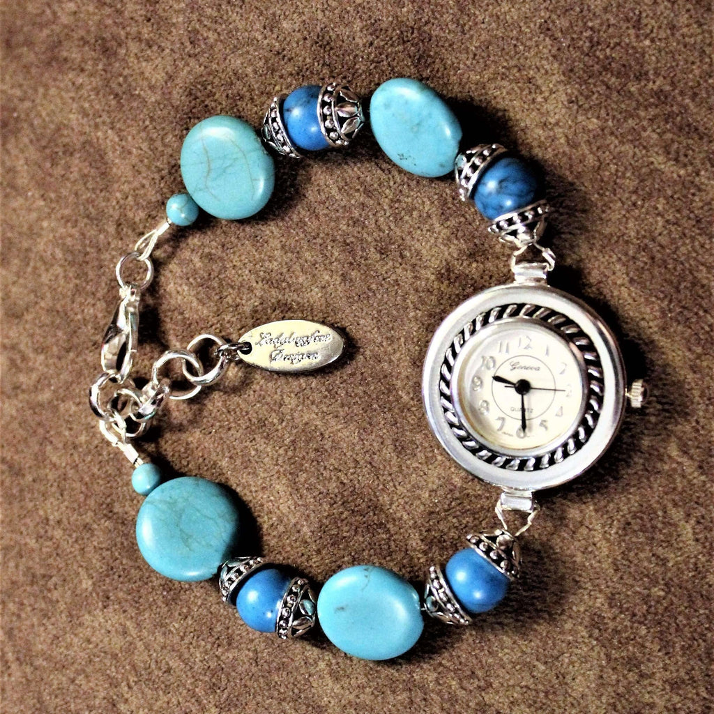 Ladybugfeet Jewelry Designs:Turquoise Bracelet Watch