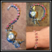 Ladybugfeet Jewelry Designs:Pink Mix Swarovski Crystal Bracelet Watch