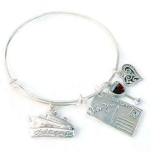 Ladybugfeet Jewelry Designs:ALASKAN CRUISE VACATION charm bangle