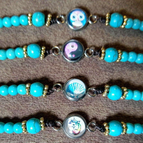 Ladybugfeet Jewelry Designs:Beaded Waxed Cord Bracelet