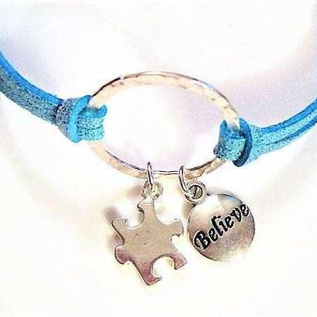 Ladybugfeet Jewelry Designs:BELIEVE - Autism Awareness bracelet