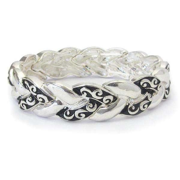 Ladybugfeet Jewelry Designs:Braided Filigree Stretch Bracelet