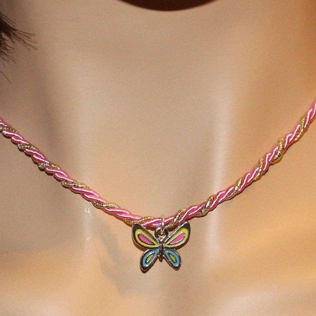Ladybugfeet Jewelry Designs:Butterfly Necklace, 16 inch