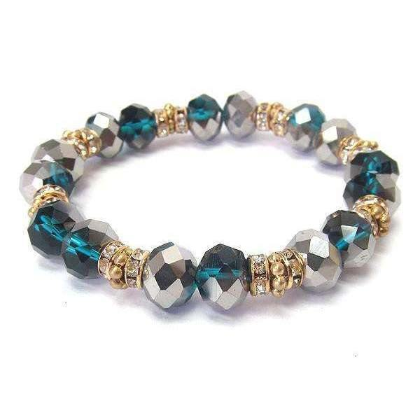 Ladybugfeet Jewelry Designs:Crystal Stretch bracelet, Multi Faceted Crystal Stretch Bracelet