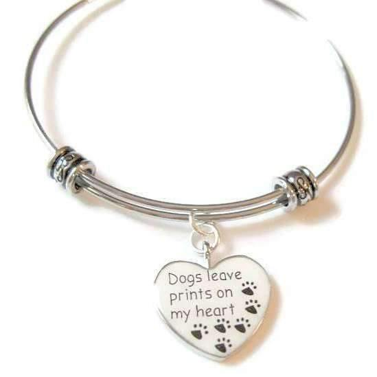Ladybugfeet Jewelry Designs:Dogs Make Prints ON MY HEART bangle