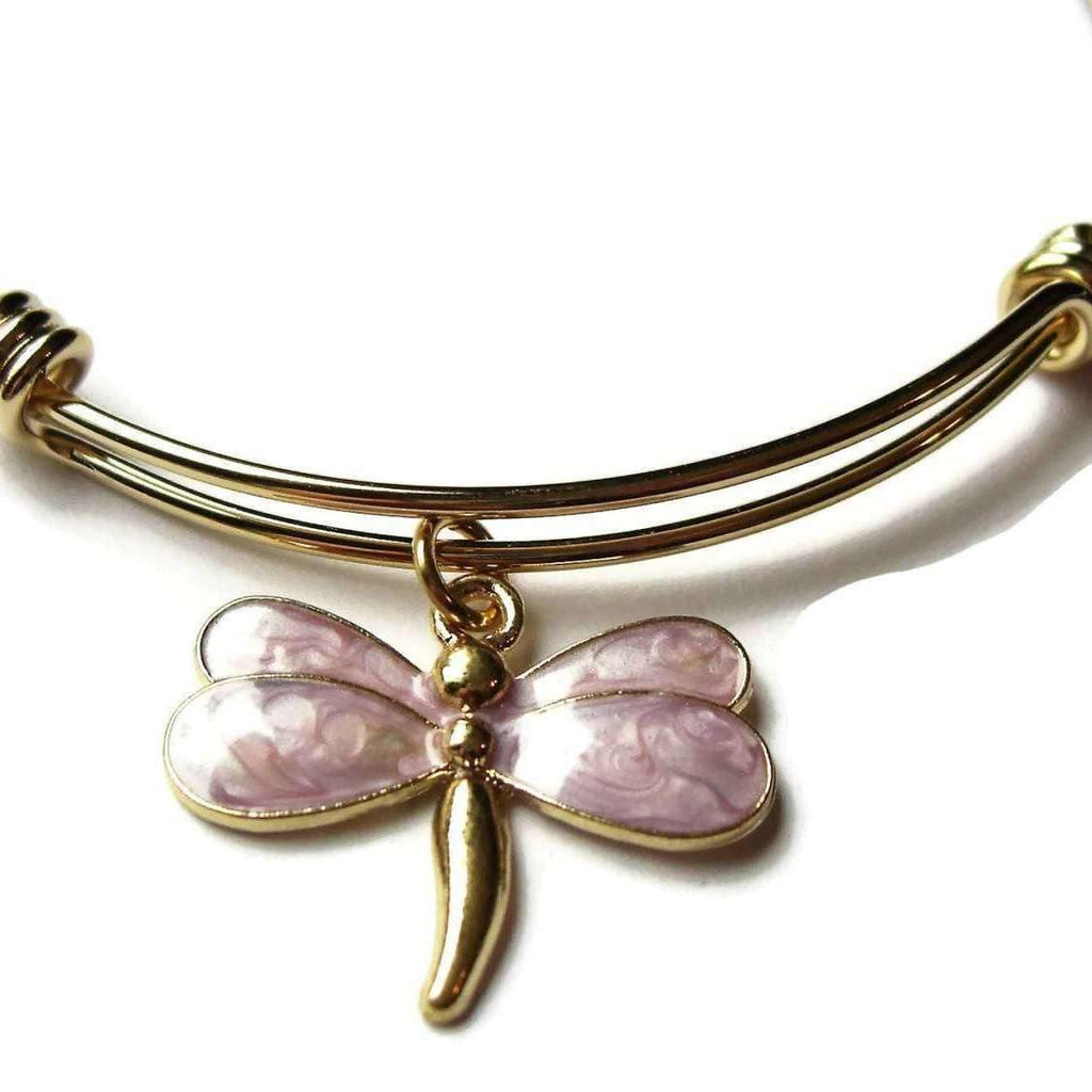 Ladybugfeet Jewelry Designs:DRAGONFLY Bangle,Fully Adjustable Wire bangle