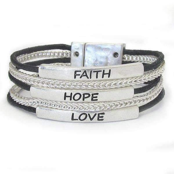 Ladybugfeet Jewelry Designs:Faith Hope Love bracelet