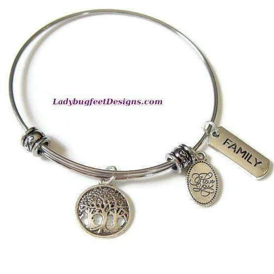 Ladybugfeet Jewelry Designs:FAMILY TREE bangle bracelet