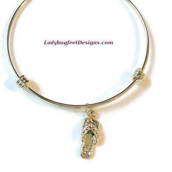 Ladybugfeet Jewelry Designs:FLIP FLOP Bangle