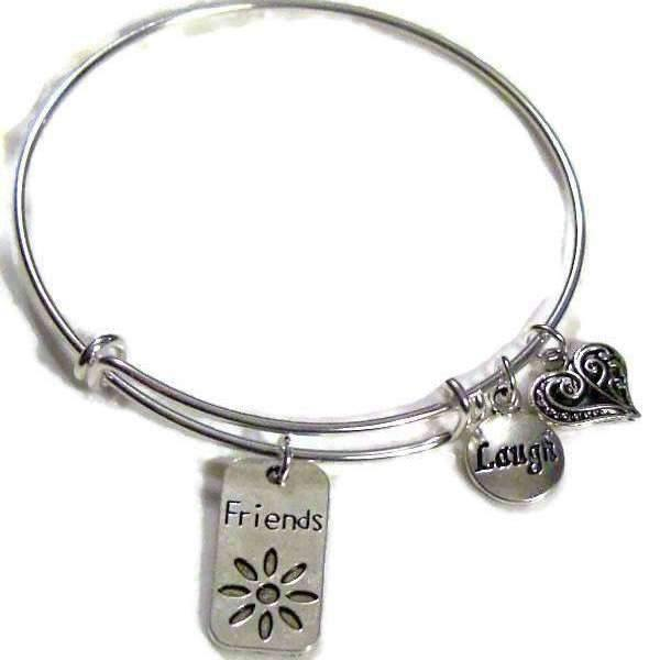 FRIENDS, LAUGH Adjustable bangle