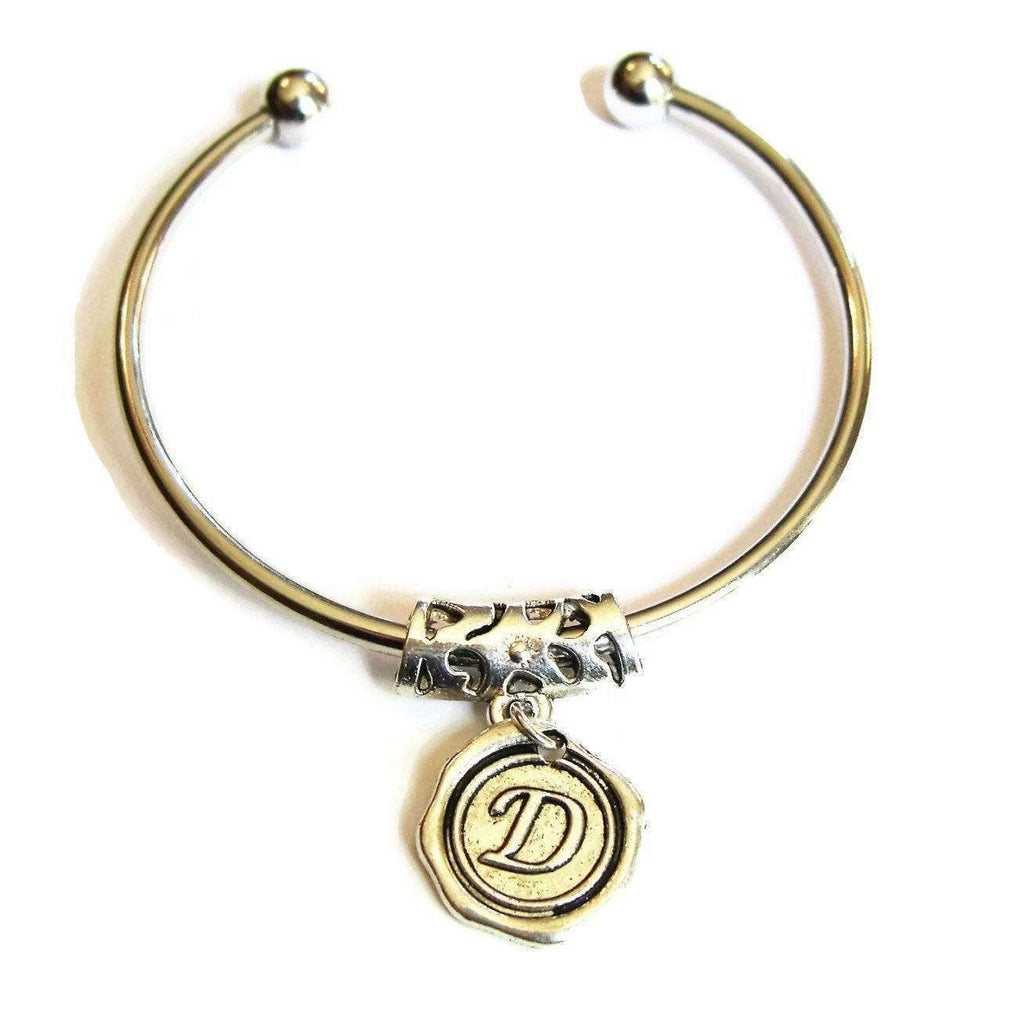 Ladybugfeet Jewelry Designs:Initial Bracelet, Personalize this EUROPEAN BANGLE