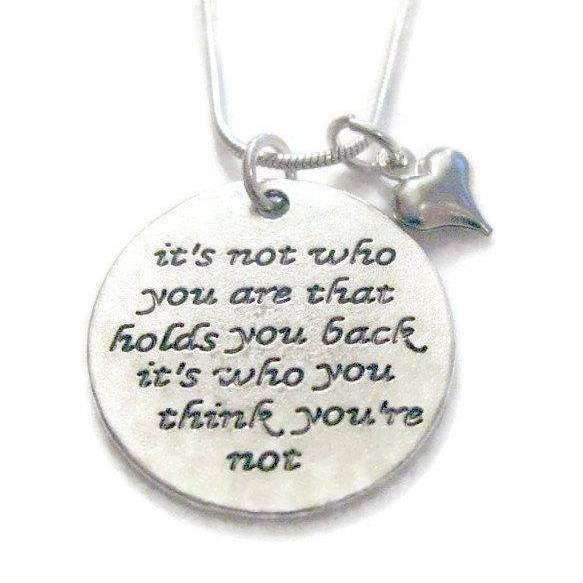 Ladybugfeet Jewelry Designs:It's Not Who You Are...necklace, 24 inch