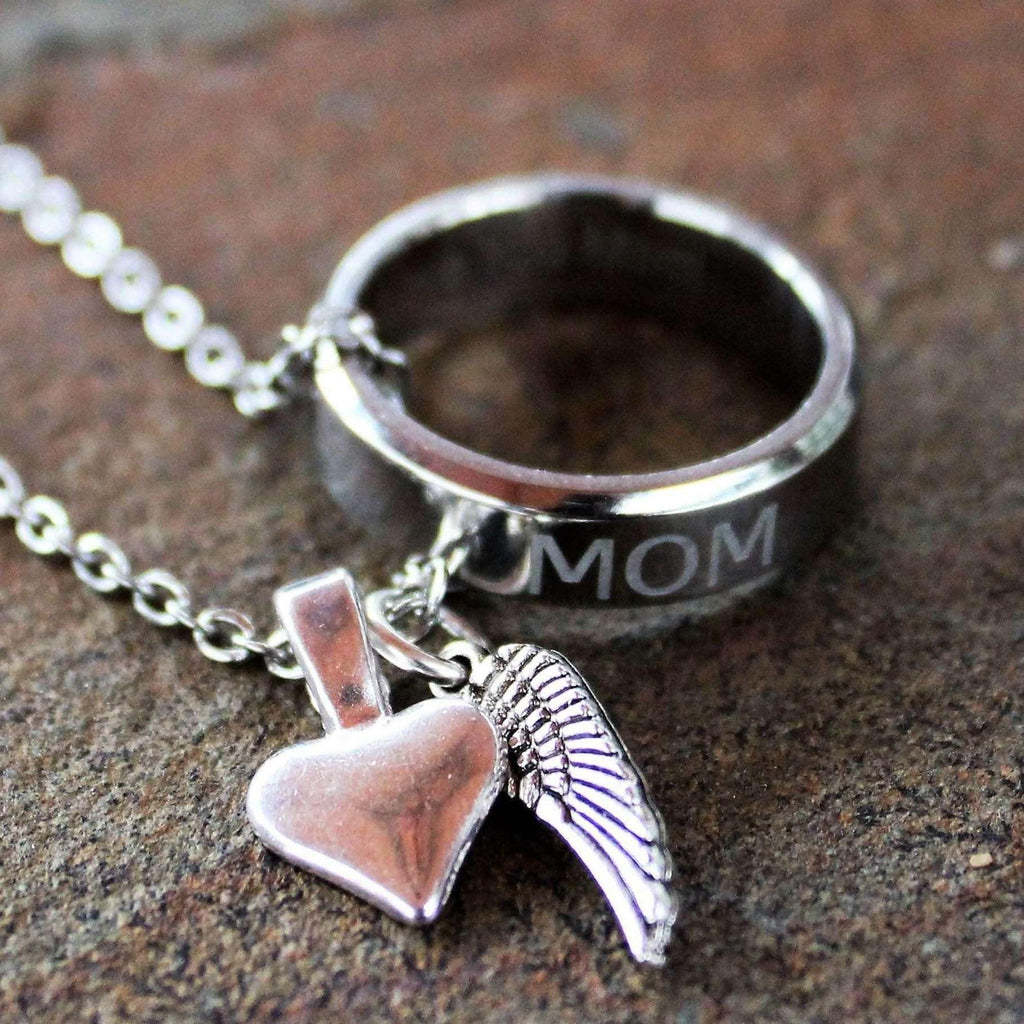 Ladybugfeet Jewelry Designs:Mom Memory Necklace-Unisex necklace