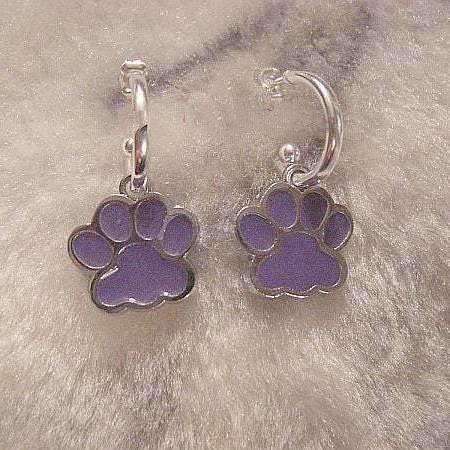 Ladybugfeet Jewelry Designs:Animal Paw hoop earrings