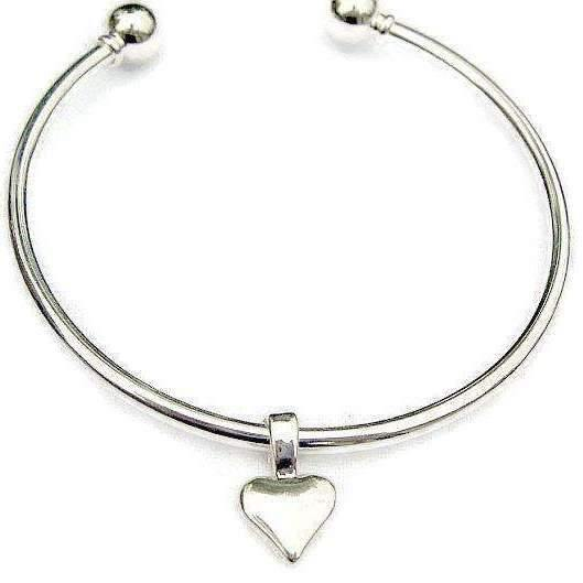 Ladybugfeet Jewelry Designs:Simple Heart EUROPEAN BANGLE