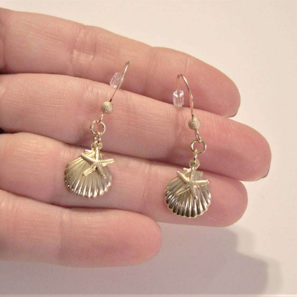 Ladybugfeet Jewelry Designs:Star Fish Sea Shell hook earrings