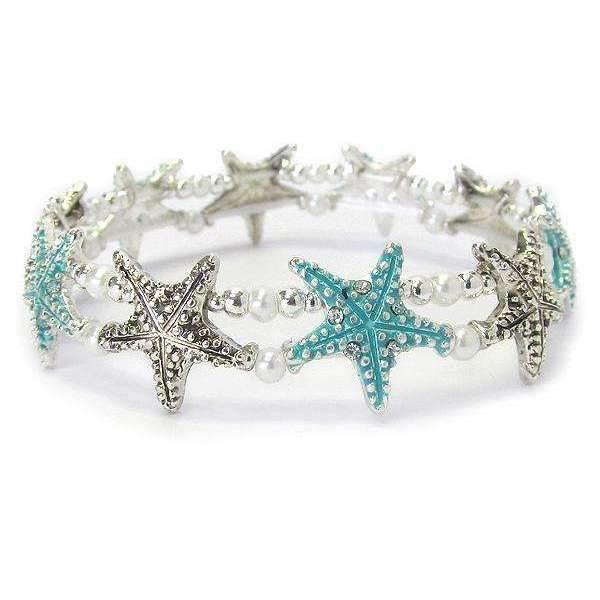 Ladybugfeet Jewelry Designs:Starfish Beach Stretch bracelet