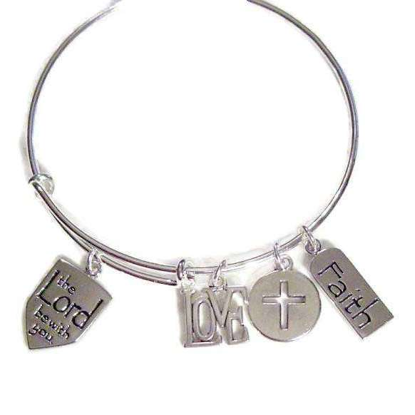Ladybugfeet Jewelry Designs:ThE LoRd Be WiTh YoU, Faith, Love BANGLE