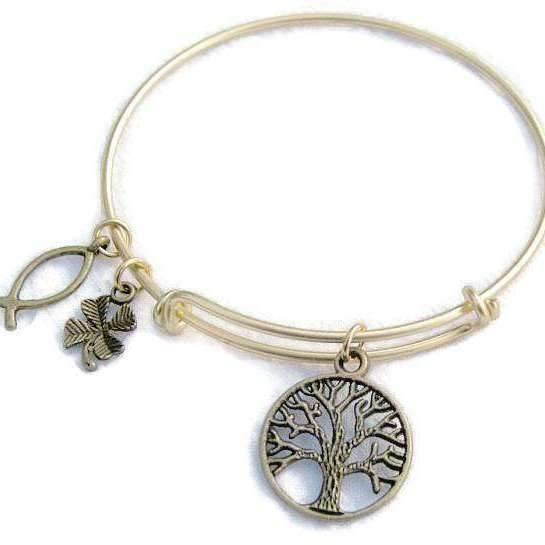 Ladybugfeet Jewelry Designs:TREE OF LIFE Gold Bangle