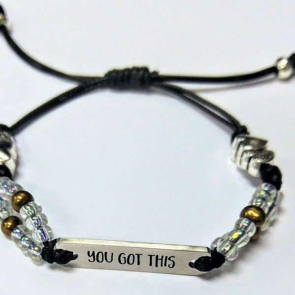 YOU GOT THIS adjustable Waxed Cord Bracelet
