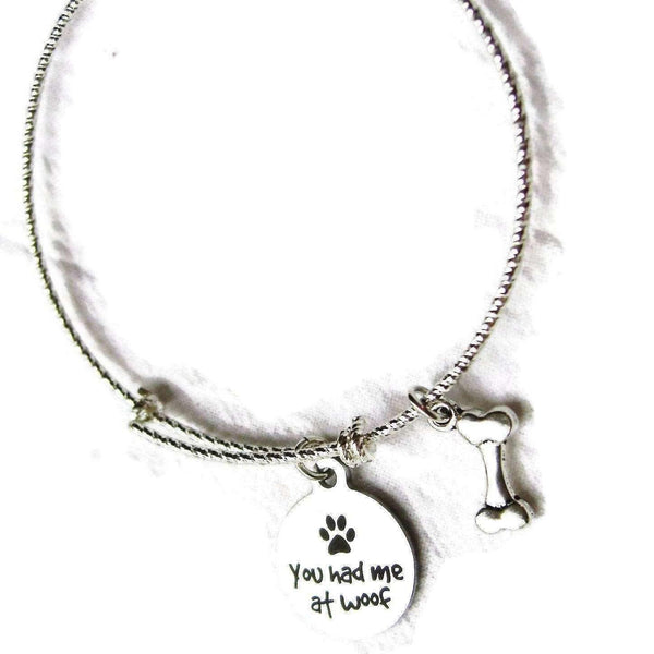Ladybugfeet Jewelry Designs:YOU Had Me at WOOF bangle bracelet