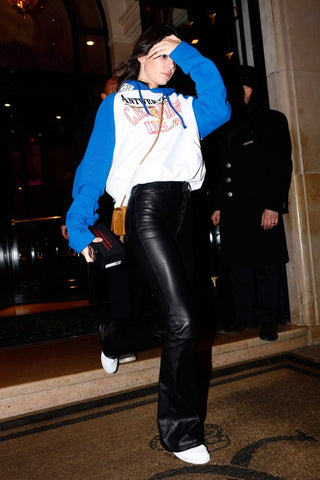 Kendall Jenner in Unravel and Vetements - dubbed 'new game-changing' style by Vogue  (c) Splash News