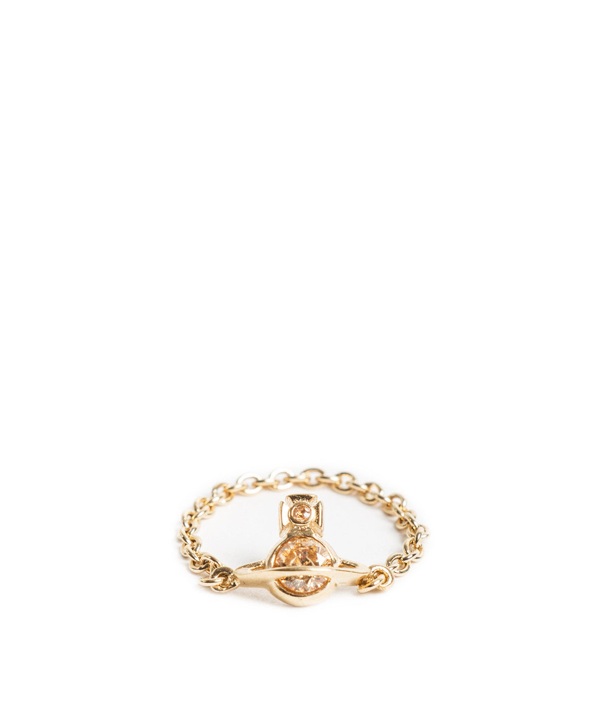 Gold Orb Lottie Chain Ring
