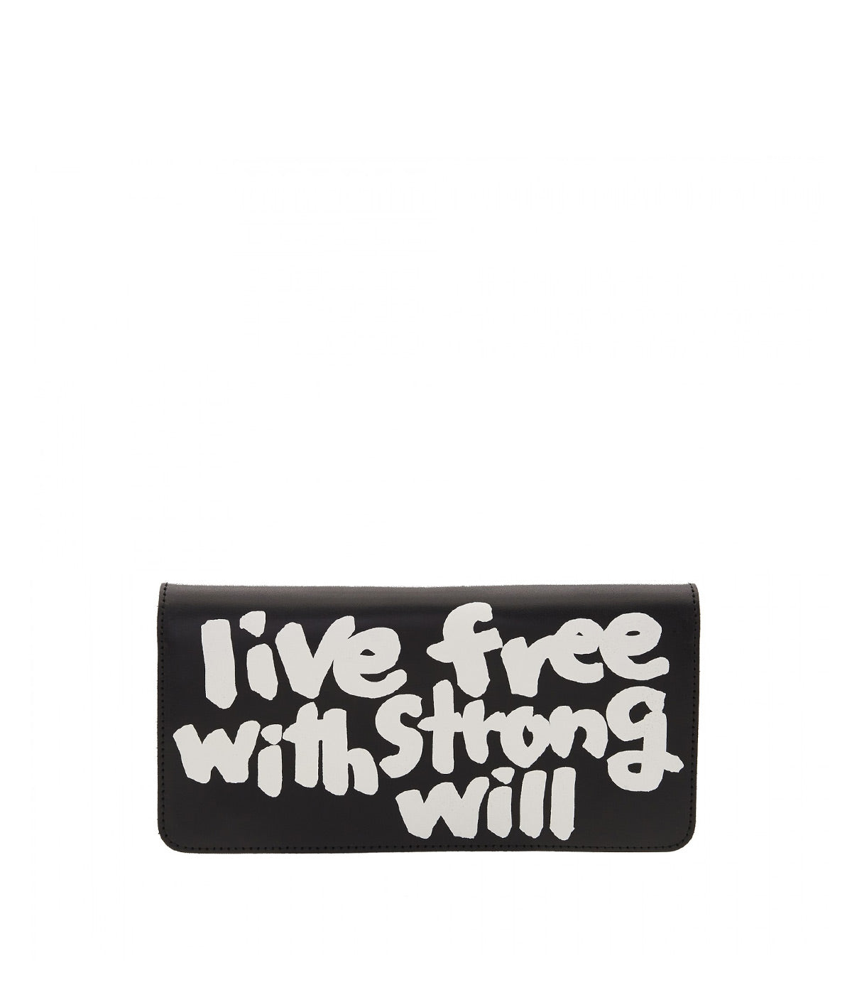 Black Long Message Wallet
