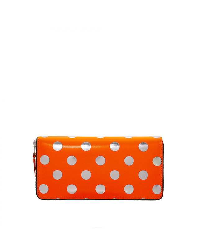 Orange Polka Dot Long Wallet