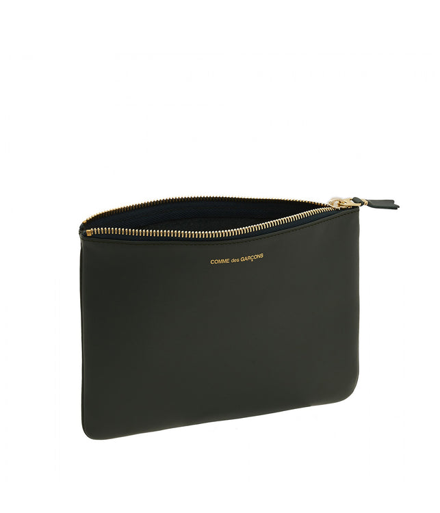Bottle Green Classic Clutch